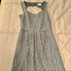 Light blue *NEVER WORN* textured mini dress.